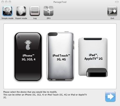 PwnageTool 4.3 iOS 4.3.1 untethered jailbreak