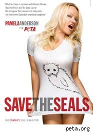 Pamela Anderson, focas Peta
