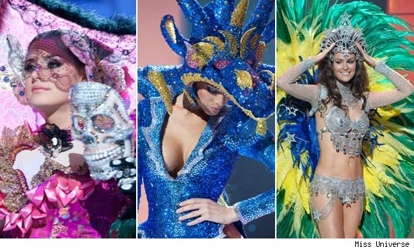 miss universe contestants dazzle in costume