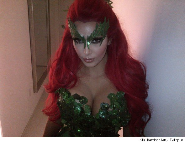 kim kardashian halloween poison ivy