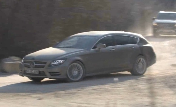 Vídeo espía: Mercedes-Benz CLS Shooting Break tragando polvo y baches