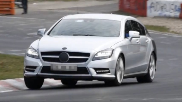 Vídeo espía: Mercedes-Benz CLS Shooting Break trotando en el 'ring