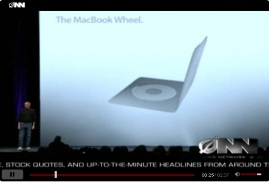The Onion presenta un increíble MacBook Wheel