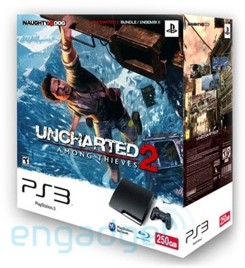 PS3 Slim con 250 GB y 'Uncharted 2' en un apetitoso pack [Actualizada]