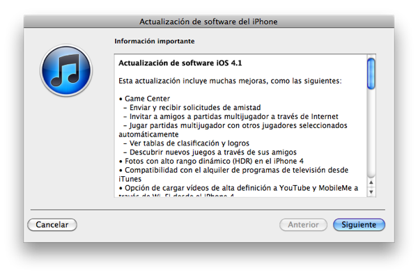 iOS 4.1 listo para nutrir tu iPhone y/o iPod touch