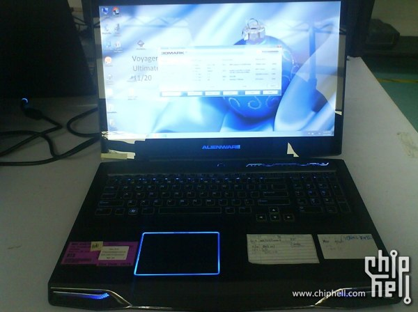 Alienware M17x con chip Intel Sandy Bridge, visto en fotos filtradas