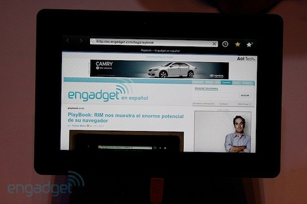 BlackBerry PlayBook, le echamos un vistazo en vídeo - CES 2011