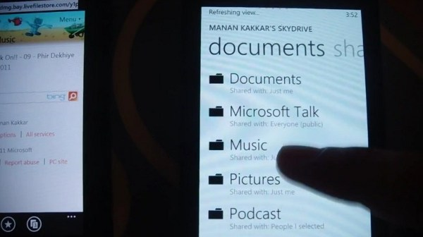 WP7 Mango vendrá con streaming de música desde SkyDrive (¡en vídeo!)