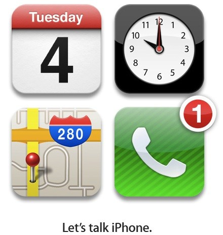"En directo desde la conferencia de Apple ""Let's Talk iPhone"""