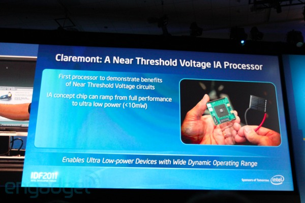 Intel muestra el procesador Claremont 'Near Threshold Voltage' en el IDF 2011