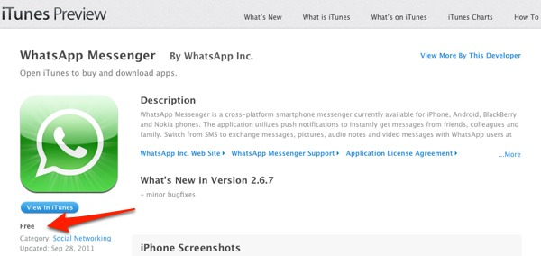 WhatsApp hace gratuita su app para iPhone, ¿contraataque a iMessage?