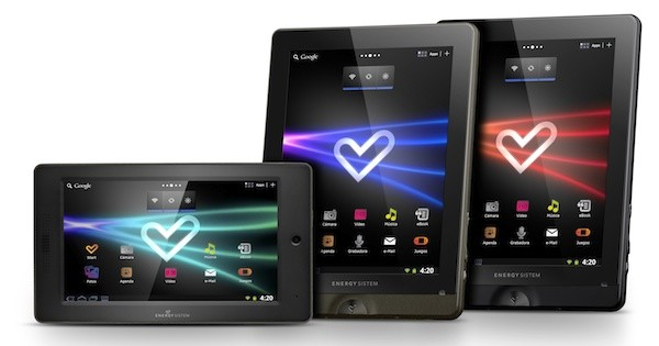 Energy Sistem presenta unos tablets con 'look' Honeycomb en Android 2.3
