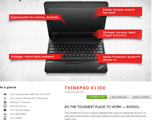 Lenovo ThinkPad X130e para estudiantes ya disponible