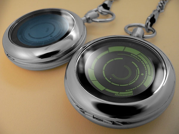 Kisai Rogue Touch Pocket Watch, un reloj de Tokyoflash que une pasado y futuro