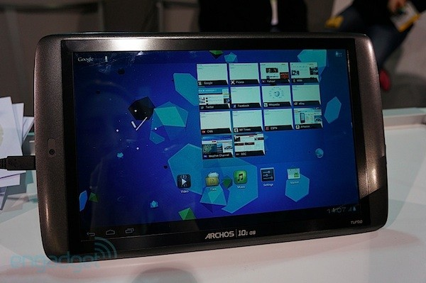 Archos G9 con Ice Cream Sandwich, le echamos un vistazo en el CES 2012 (¡con video!)