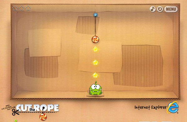 Cut the Rope portado a HTML5 sin mayores dificultades