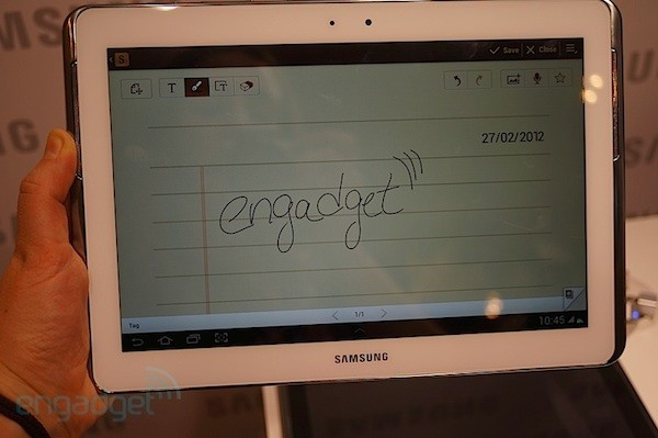 Samsung Galaxy Note 10.1, la nueva tablet con S Pen, en nuestras manos (¡con video!) - MWC 2012