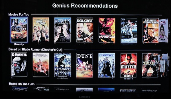 Aparecen por sorpresa recomendaciones Genius de pelculas en el Apple TV