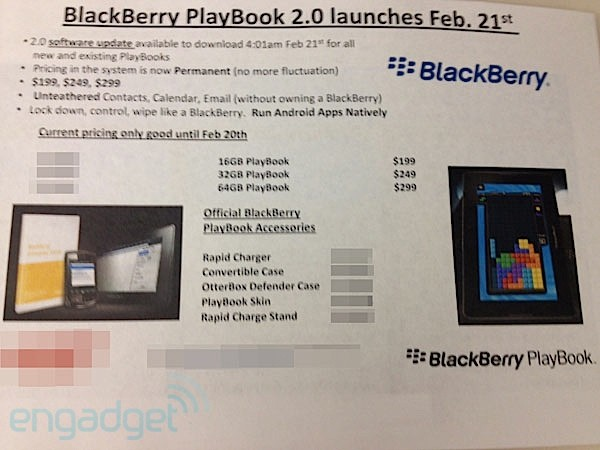 BlackBerry Playbook OS 2.0 confirmado para el 21 de febrero