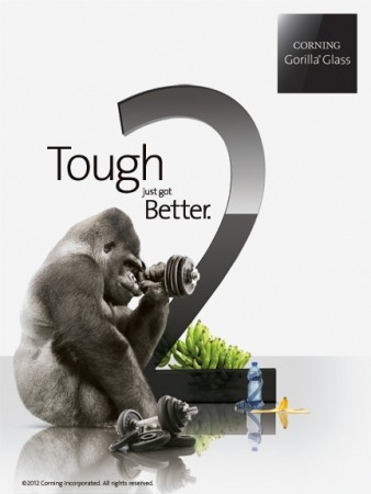 Gorilla Glass 2 estará en dispositivos a disponibles en 'abril o mayo' asegura Corning