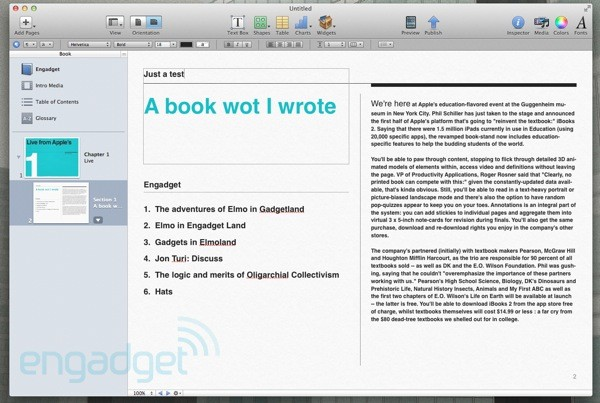 Apple modifica los trminos y condiciones de iBooks Author para beneficio del escritor