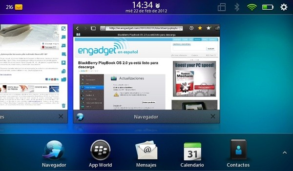 BlackBerry PlayBook 2.0 analisis review a fondo actualizacion