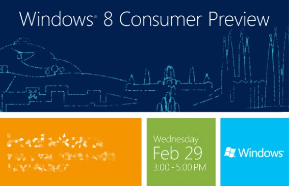 Microsoft lanzará la Preview para Consumidores de Windows 8 en el MWC 2012