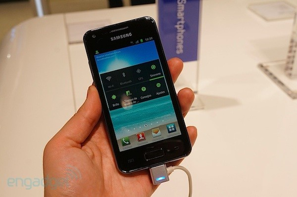 Samsung Galaxy S Advance en vdeo MWC 2012