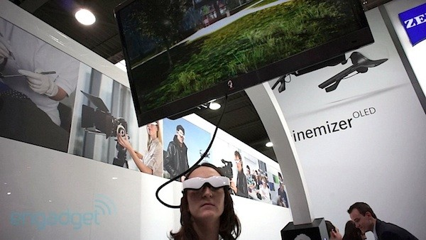 Cinemizer OLED con sensor de movimiento, nos probamos las gafas de Carl Zeiss (¡con video!) - CeBIT 2012