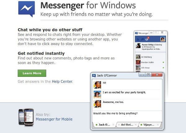 Facebook Messenger para Windows ya disponible oficialmente
