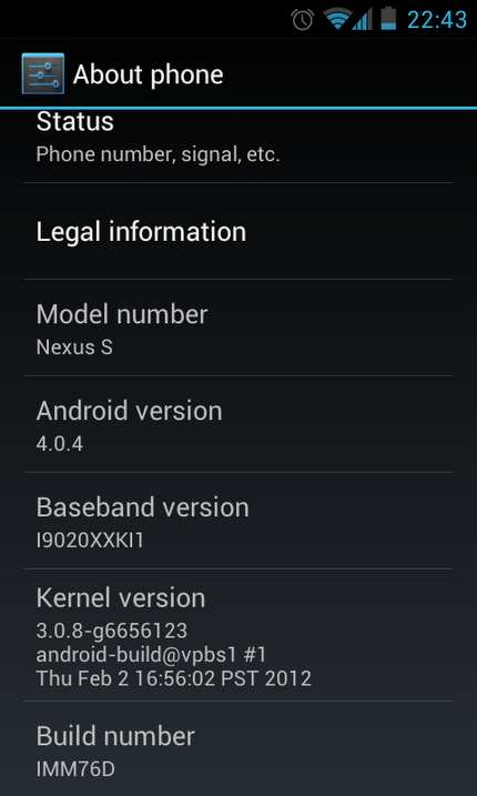 Android 4.0.4 bendice con su presencia a los Motorola Xoom WiFi, Nexus S GSM y Galaxy Nexus HSPA+
