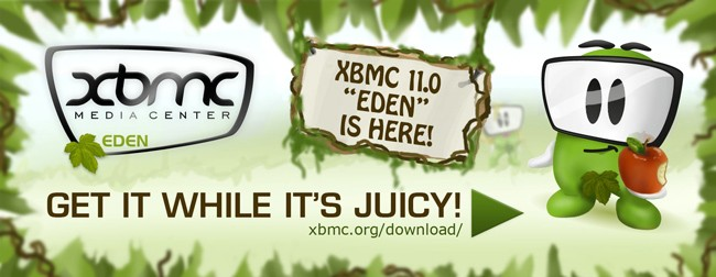 XBMC 11.0 Eden disponible para descarga tras meses en beta
