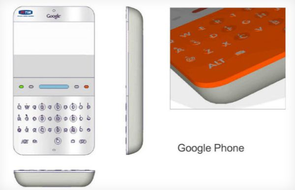 As eran los primeros esbozos del Google Phone all por 2006
