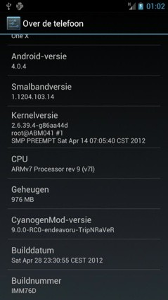 CyanogenMod 9 se deja querer por las 4,7 pulgadas del HTC One X