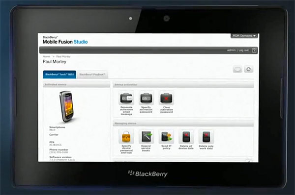 BlackBerry Mobile Fusion Studio entra en escena dispuesta a controlar equipos de RIM, iOS y Android