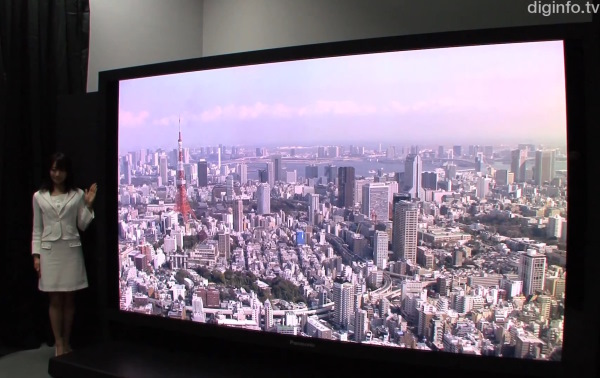 El sper-televisor 8K Super Hi-Vision de 145 pulgadas de Panasonic y NHK, en vdeo