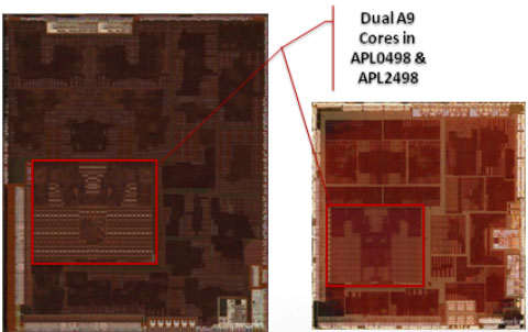 Apple TV (2012) emplea un chip A5 de 32 nm