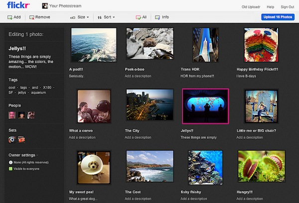 Flickr implementa una nueva herramienta HTML5 para subida de fotos