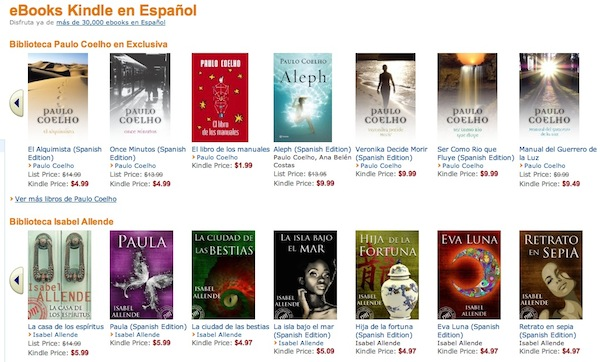Amazon lanza en EEUU su Kindle eBook store en espaol con ms de 33.000 ttulos para elegir