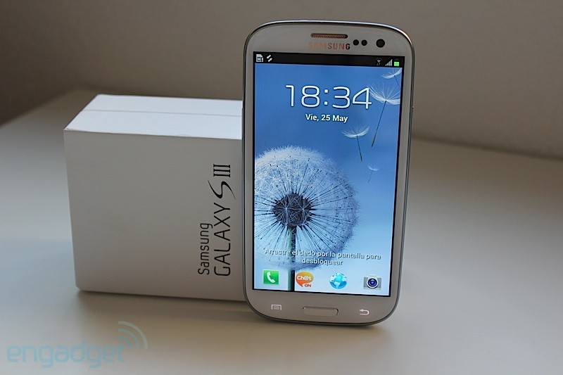 Samsung Galaxy S III, desempaquetado