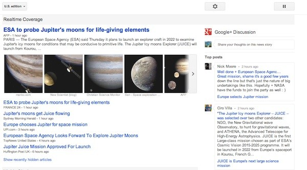Google News se actualiza por dentro y por fuera mejorando la integracin con Google+