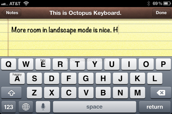 Octopus Keyboard, el teclado BlackBerry 10 para los iPhone con Jailbreak (vdeo)