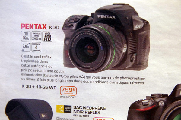 Pentax K-30 se filtra desde un catlogo francs que habla de video 1080p
