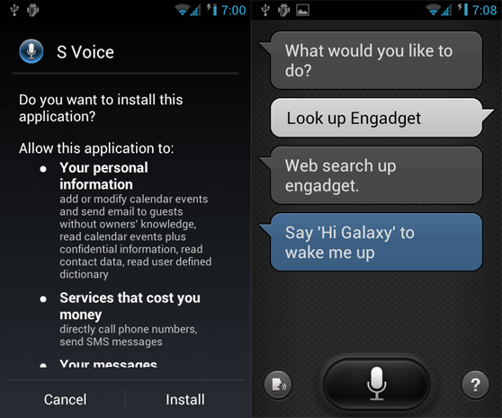 Samsung Galaxy S III: se filtra el APK de S Voice