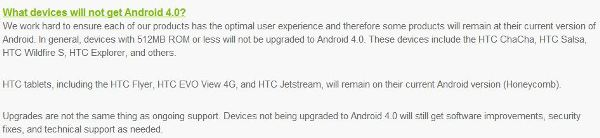 HTC ofrece ms informacin sobre las actualizaciones a ICS: Algunos mviles no lo recibirn
