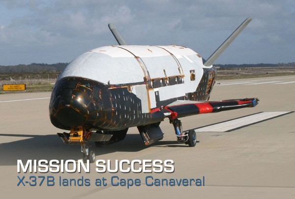 El avin espacial X-37B regresa a la Tierra tras ms de un ao en rbita (pero no preguntes qu haca ah arriba)