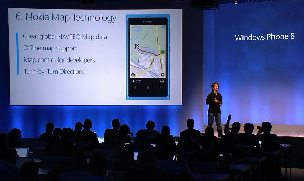 Windows Phone 8 usar los mapas de Nokia, navegacin giro-a-giro incluida