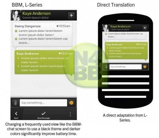 BlackBerry Messenger para BlackBerry 10, ¿primer avistamiento?