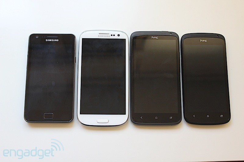 Samsung Galaxy S II, S III, HTC One X, One S