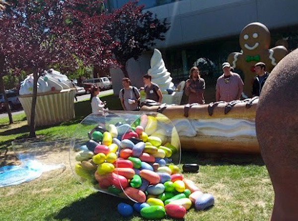Jelly Bean llega al jardn de las estatuas de Google